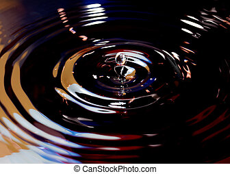 Drops of water with abstract color filters