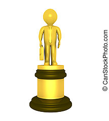 Golden prize for businessman - 3d golden prize for best...