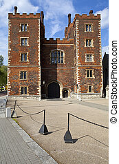 Lambeth Palace in London. The official residence of the...