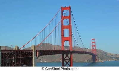 colorful Golden Gate Bridge - Golden Gate Bridge in a sunny...