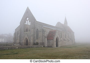 Bomb damaged Garrison Church - The bomb damaged garrison...