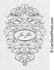 Vector Ornate Frame. Easy to edit, all ornaments are...