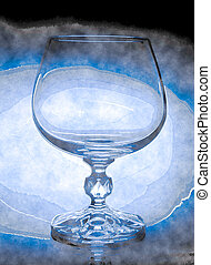abstract wineglass and background - abstract wineglass and...