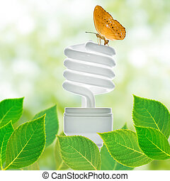 Energy saving lamp concept