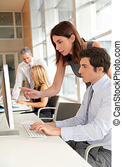 Co-workers in business training