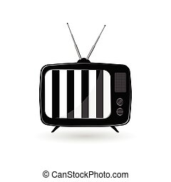 old tv ith black and white line