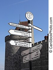 Sign post at windsor castle