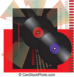 Vinil party background. - RETRO PARTY BACKGROUND -...