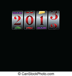 new year in slot machine