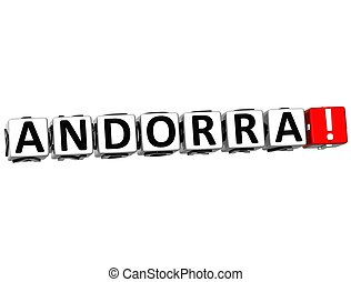 3D Andorra Button Click Here Block Text