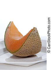 Slice of fresh Cantaloupe Melon - A slice of fresh...