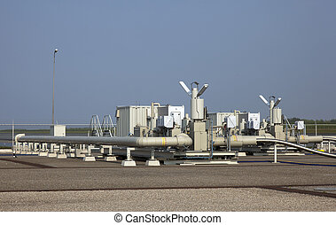 oil industry with blue sky