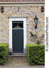 old door of a dutch house