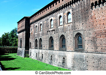 milan - Milan the Sforzesco castle
