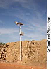 Solar Panel in Africa - Photovoltaic energy brought in a...