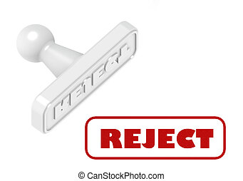 Reject stamp