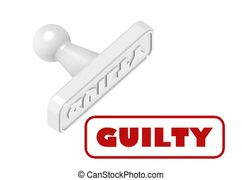 Guilty - Rendered artwork with white background