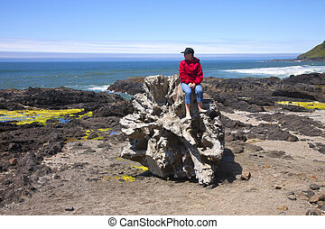 Visiting Cape Perpetua, Oregon coast.