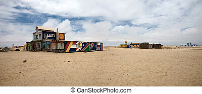 wlotzkasken - Village of wlotzkasken in namibia close to...