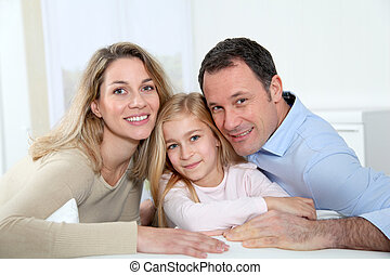 Portrait of parents and daughter