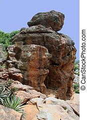Rocks on Mountain Edge