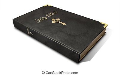 Holy Bible - A regular christian holy bible in black leather...