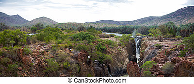 Epupa Falls - The Epupa Falls are created by the Kunene...