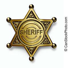 policía, insignia