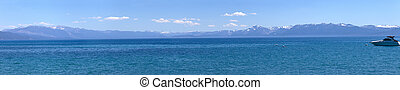 Lake Tahoe scenic beauty panorama. - Lake Tahoe scenic...