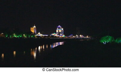 Heihe Embankment Night View (far)