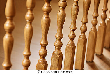 Old wooden balusters - architectural abstraction