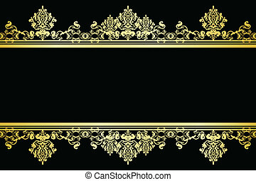 Vector black and gold background