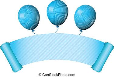 Vector illustration of blue scroll