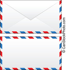 airmail envelope - Vector illustration of airmail envelope