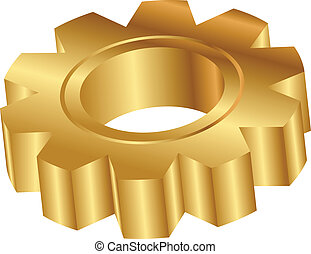 golden cog wheel