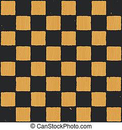 Grunge chessboard vector background