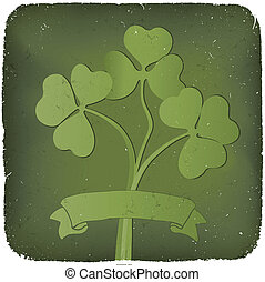 Clover background for St. Patrick's Day. EPS10