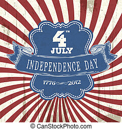 Vintage styled Independence poster. Vector, EPS10