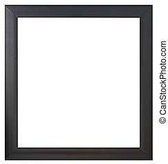 A black  picture frame, isolated