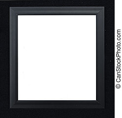 a picture frame on a black