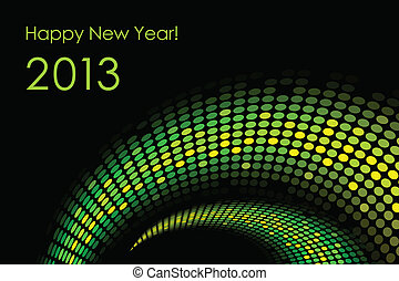 Happy New Year snake background 2013-year of the snake
