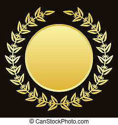 gold laurels - Vector background with gold laurels