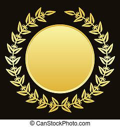 gold laurels - Vector background with gold laurels