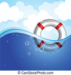 Vector illustration of Life Buoy in