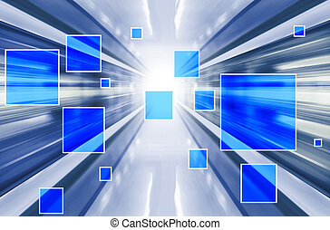 technology illustration - Technology background with...