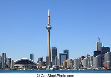 Toronto skyline - Photo of the Toronto skyline under a clear...