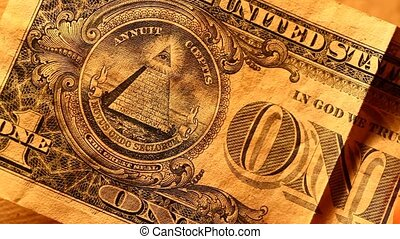 US dollar - Close up of US dollar