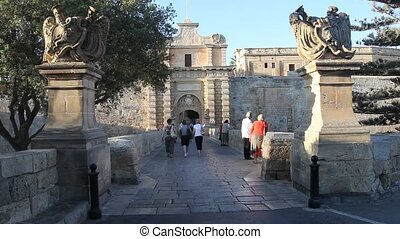 The main gate of Mdina