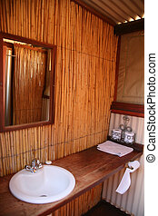 Eco Lodge in South Africa - Detail of the bathroom in a...
