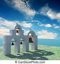 Greek Architecture with bule sky